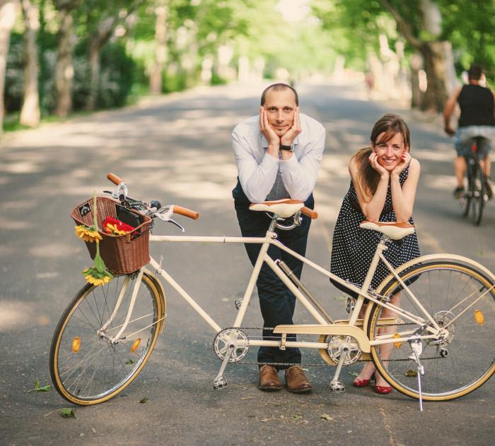 Biciklis jegyesfotózás | Anett & Laci