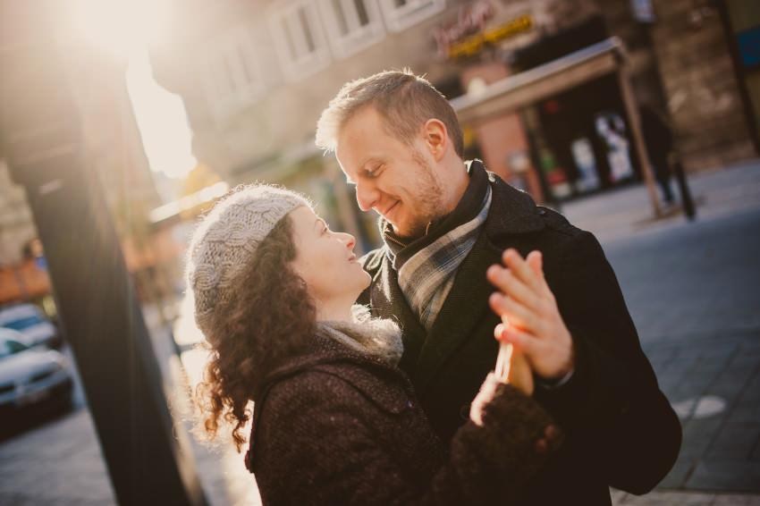 Téli jegyesfotózás Budapesten | Kati & Péter